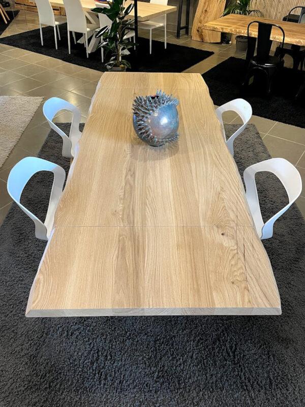 legno rovere massello naturale tavolo gamba stella ferro