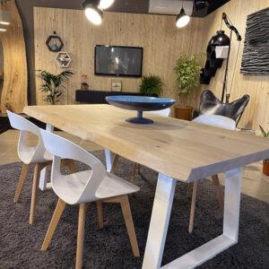 Tavolo moderno in legno massello di rovere 200×90 cm – Viola