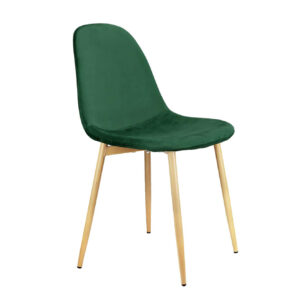 N. 4 sedie moderne in flanella verde di design – Jordan