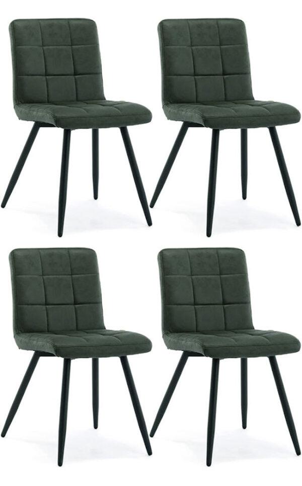 velluto verde sedie imbottite