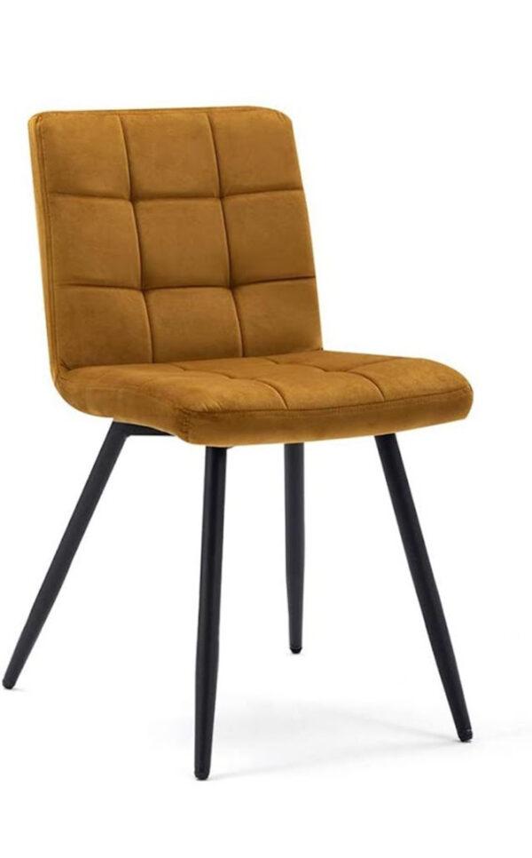 velluto-sedia-giallo-imbottita
