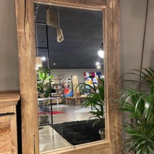 Pronta consegna specchio vintage legno massello invecchiato Iride